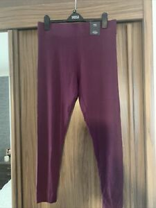 BNWT M&S GOOD QUALITY SOFT FEEL STRETCH LEGGINGS 18 Reg GRAPE