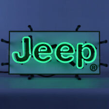Neon Sign JEEP hand blown glass Neonetics 5JEEPS Junior NEW IN STOCK LOOK