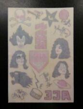Vintage Original Kiss Alive Ii Tattoo sheet 1977 Casablanca Kiss Army