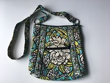 "VERA BRADLEY ""Island Blooms"" Blue Floral Hipster Cross Body Purse/Bag"