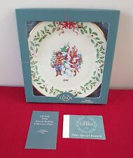 Unused In Box Lenox Annual Holiday Collector Plate Xmas Letter To Santa 1996