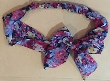 Hair Band Bow Floral Accessory Pink Blue Pattern Stretch Tie Festival