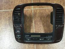 2002 Toyota Landcruiser Radio Wood Grain Bezel Used