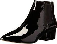 French Connection Black Lackleder Stiefeletten Ronan Kleid Schuhe 8 41 Neu