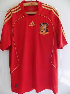 Spain Football Shirt 2008 EURO Adidas Mint Original Espana Camiseta Retro Soccer
