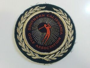"""1970s -  SOUTHERN CALIFORNIA GOLF ASSOCIATION - 3 1/4"""" Sew On Patch - EX"""