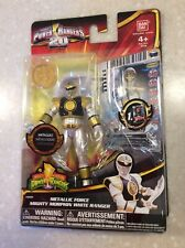 Power Rangers Metallic Force Mighty Morphin White Ranger 2013 MOC