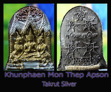Thai Amulet Charming Herbal Top Khun Phaen Thep Apson Hight Takrut Aj Pu MoNak