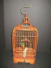 Vintage Hand Carved Bamboo Bird Cage Oriental Birdcage Art Deco style bird cage