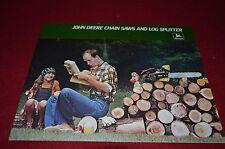 John Deere Chain Saws And Log Splitter For 1977 Dealers Brochure DCPA3