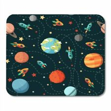Mouse Pad Rockets and Stars Lovely  Mouse Mats Computer PC Table Non slip