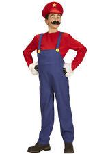 Teen Size Super Mario Style Plumber Costume
