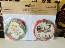 10 X Sass & Belle - Retro Christmas gift tags - New