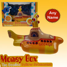The Beatles Yellow Submarine money box piggy bank personalised licensed