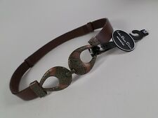 Lake Shore Drive Leather Waist Belt Brown Medium 28 30 32 34