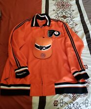 Mitchell and Ness Philadelphia Flyers NHL Jacket Size 64 5XL n Fitted Hat 7 5/8