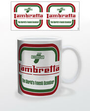 LAMBRETTA LOGO 11 OZ COFFEE MUG TEA CUP SCOOTER ITALY MOTOR VEHICLE CARS VINTAGE