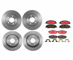 Brembo Front Rear Full Brake Kit Disc Rotors Ceramic Pads For Ford Mustang Base