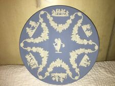 Vintage Wedgwood Blue Jasperware Collector's Society Floral Girl Plate Gorgeous