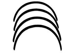 Wheel arches BLACK MATT MAZDA 6 I  4,5door `2002-2007 Fender, ca