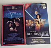 Vintage Video Starman And Star Wars VHS Movies Return Of The Jedi Lot Skywalker