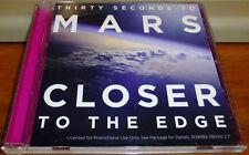 THIRTY SECONDS TO MARS Closer to the Edge RARE RADIO EDIT PROMO DJ CD Single