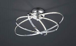LED Deckenleuchte 13W/230V Ring Chrom 795lm Ø44cm Metall Lichteffekt Warmweiß