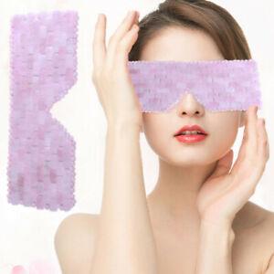 Pure Handmade Natural Rose Quartz Jade Healing Stone Eye Mask Skin Care Tools