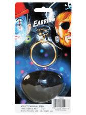 Carribean Pirate accessoires set Eyepatch et boucle d'oreille HOOP robe fantaisie or nouveau