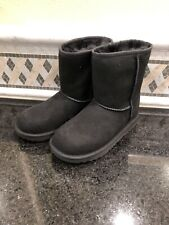 Unisex Kids UGG Classic II Black Boots- Size 1- #1017703