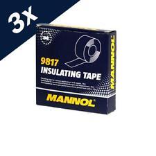 3x10m MANNOL Insulating Tape Electrical PVC Insulation Flame Redundant 19mmX10m