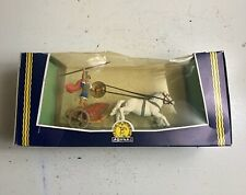 Vintage AOHNA Greek Ancient Warrior & Chariot Still in box