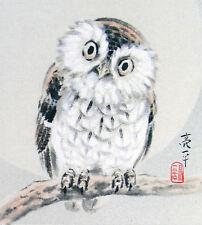 Traditionnel Oriental Style Imprimé D'Un Hibou (Asiatique Oiseau Picture