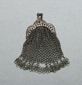 PORTE MONNAIE MINIATURE ANCIEN PORTE-LOUIS DE POUPEE  19ème siècle antique purse