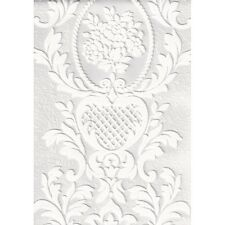 Textured Embossed Patterned Blown Vinyl White Wallpaper 261618 Anaglypta Paint
