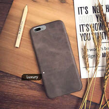 Genuine Original PU Leather Thin Slim Case Cover Apple iPhone 10 X 8 7 Plus 6s 5 iPhone 6 / 6s Brown