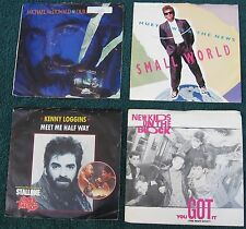 LOT OF(4)45RPM RECORDS:Michael McDonald/Huey Lewis/Kenny Loggins/New Kids On Blo
