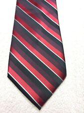 APT 9 MENS TIE RED BURGUNDY BLACK WHITE STRIPED 3.25 X 59 NWOT SKINNY NARROW