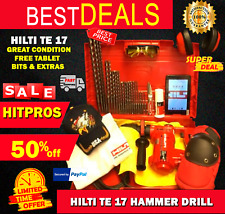 Hilti Te 17 Great Condition Free Tablet Bits And Extras Fast Ship