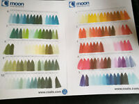 2 X COATS MOON POLYESTER SEWING 1000Y THREAD - COTTON HAND/MACHINE  ALL COLOURS.