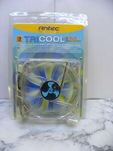 ANTEC TRICOOL FAN  120mm 3SPEED FAN 3-PIN & 4 PIN CONNECTOR UK SELLER #BOX101