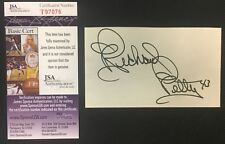 Richard Petty Autographed Index Card The King NASCAR Driver Racing Vintage JSA