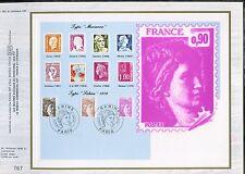 DOCUMENT CEF PREMIER JOUR  1981  TIMBRE   N° 2118 - 2119 - 2120 SABINE
