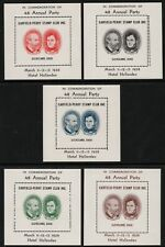 Garfield-Perry Stamp Club - 48th Annual Party- Cleveland 1938 - 5 S/S's MNH
