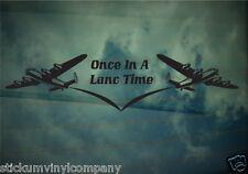 Una vez en un Lanc tiempo Lancaster Bomber coche calcomanía / etiqueta adhesiva * Thumper * Vera * Segunda Guerra Mundial *