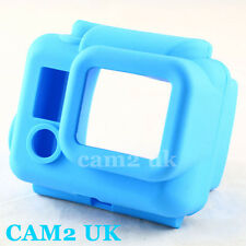 Blue Soft Silicone Rubber Case Cover Protector for GoPro HD Hero 3 Camera