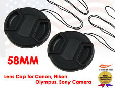 2 X 58mm Universal Lens Cap Keeper For All DSLR Camera Canon,Nikon,Olympus,Sony