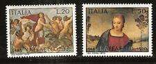 """ITALY # 1009-10 MNH PAINTINGS by GALATEA """"MADONNA WITH THE GOLDFINCH"""""""