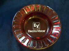 VINTAGE ELECTRO-VOICE EV COASTER ash tray nut dish RUBY red glass ornament NEW