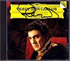 DOMINGO Signed VERDI Don Carlos RICCIARELLI ABBADO CD Placido Raimondi CARLO